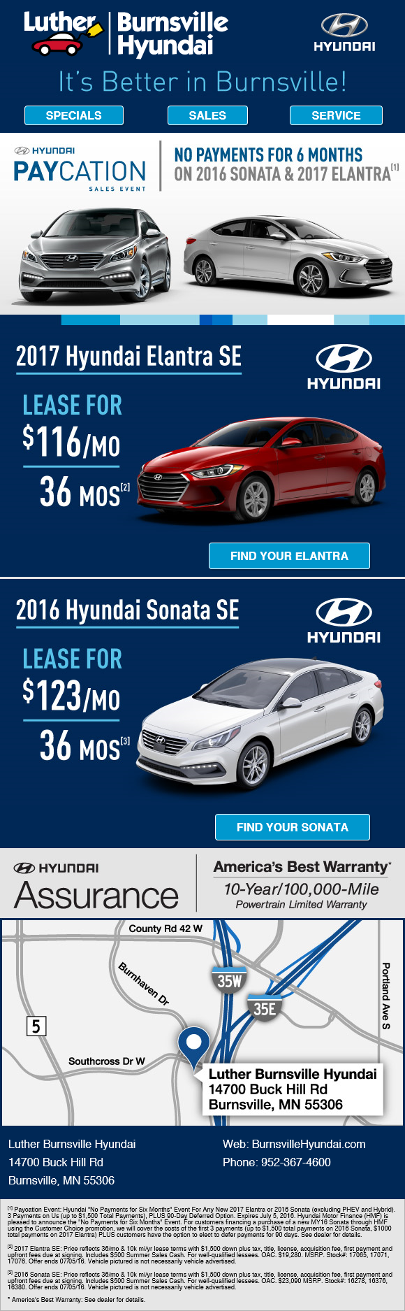 Luther Burnsville Hyundai Email