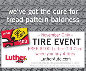 Luther Auto Tire Event banner design by thealphastate